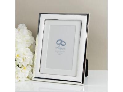 """Сватбена фоторамка със сребърно покритие за снимка 4 """"x 6"""" (10x15cm)"""