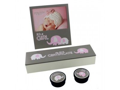 Сет за бебе със слонче за момиче