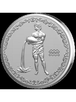 """Сребърен медальон """"Зодия Водолей"""""""