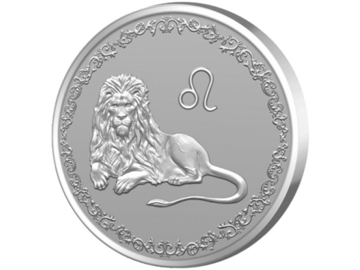 """Сребърен медальон """"Зодия Лъв"""""""
