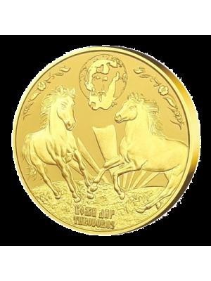 """Медал """"Свети Тодор"""", с масивно златно покритие"""