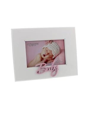 Фоторамка с 3D надпис BABY за момиче