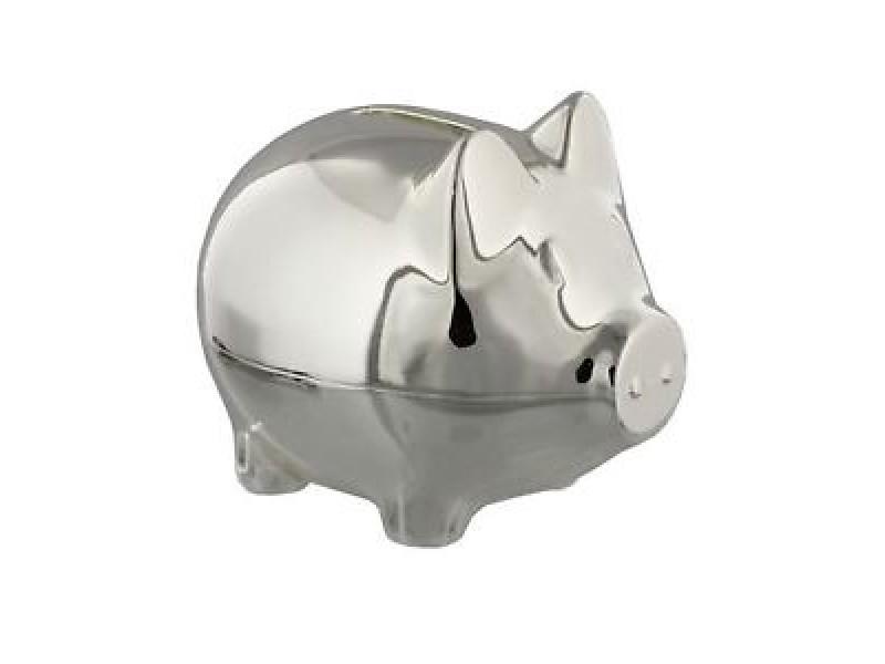 Касичка прасенце със сребърно покритие Bambino