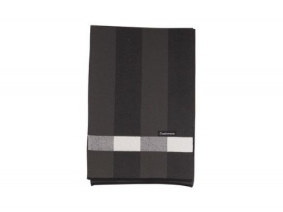 Елегантен зимен шал от кашмир черен
