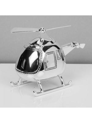 Касичка хеликоптер със сребърно покритие