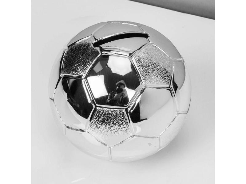 Зашеметяваща касичка футболна топка със сребърно покритие