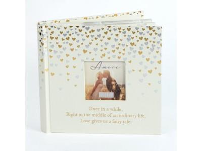 """Amore сватбен фотоалбум """"малки сърца"""" 80 страници /10х15см/"""