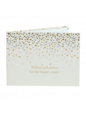 Kнига за гости с малки сърца от колекцията Amore Wedding Day