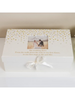 Кутия за сватбени обувки Little Hearts