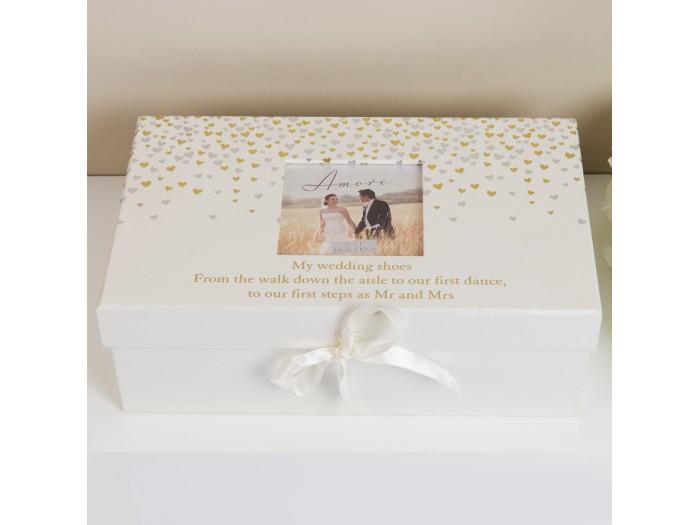 Amore кутия за сватбени обувки Little Hearts