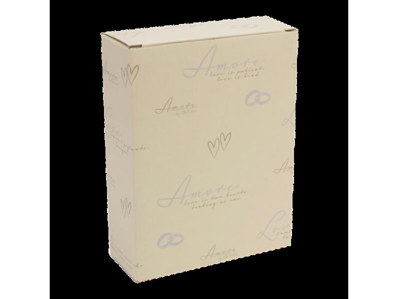 Amore сватбена фоторамка със сребърно покритие 13х18см