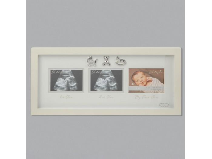 Прекрасна рамка с три снимки на Bambino с размери 10 х 8 см.