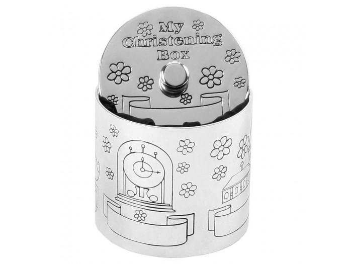Зашеметяваща кутия за кръщене със сребърно покритие