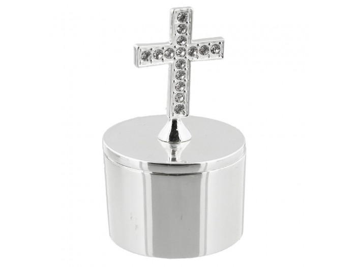 Kутийка с кръст и диаманти