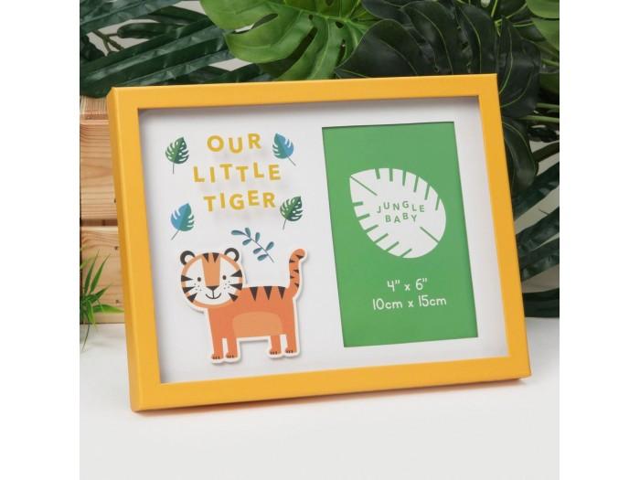 """Прекрасна рамка """"усмивка на тигъра на Линкълн""""за снимка с рамер 10х15см."""