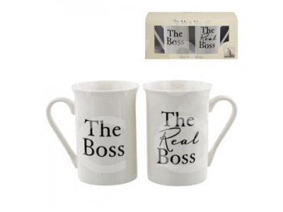 "Луксозен комплект сватбени чаши Amore ""The Boss"" и ""The Real Boss"""