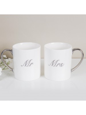 """Подаръчен комплект """"Мистър"""" и """"Мисис"""" от чаши"""