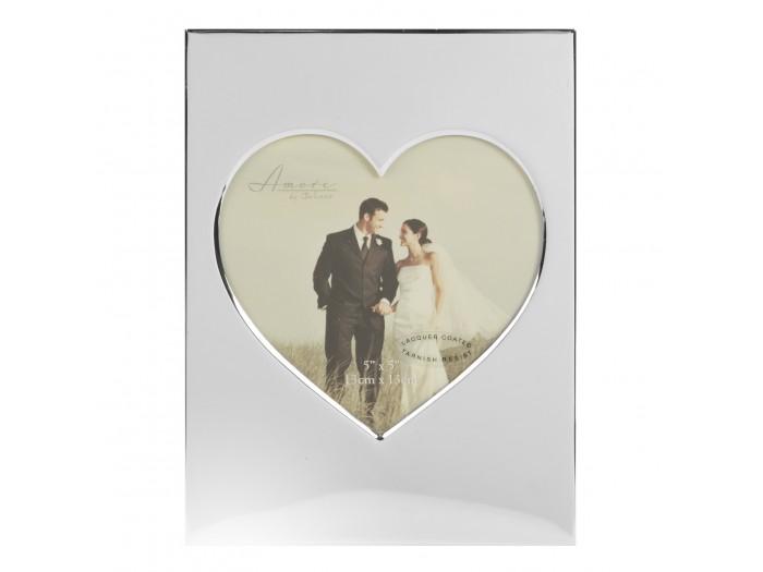 """Amore сватбена фоторамка във формата на сърце 5"""" x 5"""" (13 x 13cm);"""