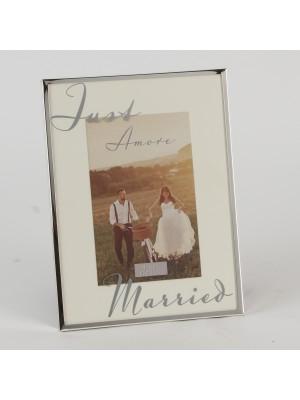 """Сватбена фоторамка със сребърно покритие 6"""" X 4"""" (10 х 15 см)"""