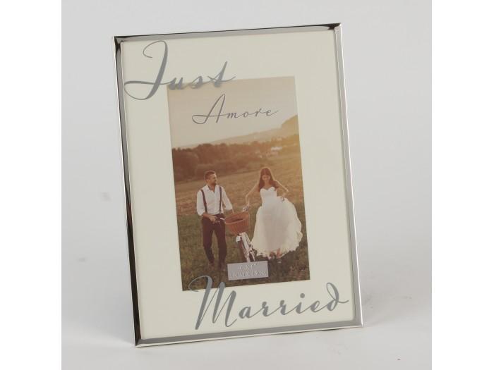 """Amore сватбена фоторамка със сребърно покритие 6"""" X 4"""" (10 х 15 см)"""